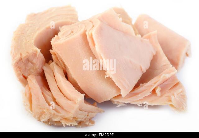 tuna steak isolated on white background - Stock Image