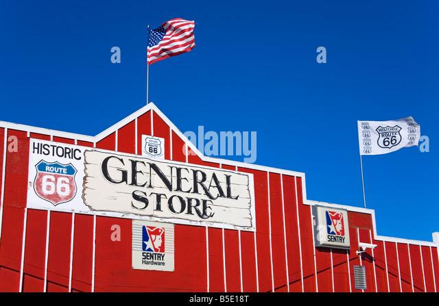 General Store, Seligman, Route 66, Arizona, USA, North America - Stock Image