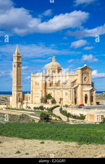 Malta Gozo island Gharb Ta'Pinu basilica - Stock Image