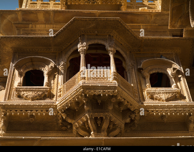 balcony window ki haveli jaisalmer stock photos balcony