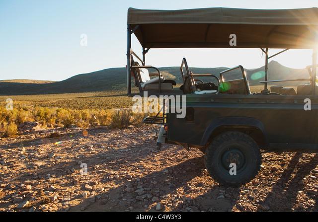 Safari truck, South Africa - Stock Image