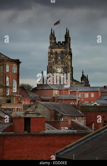 Stockport town centre Clock towers - Stock Image