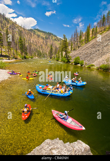 Rafting the Middle Fork of the Salmon River, Idaho - Stock Image