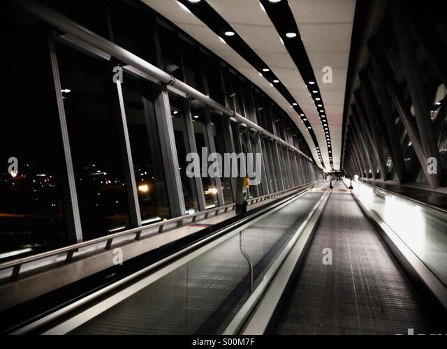 Airport Corridor - Stock Image