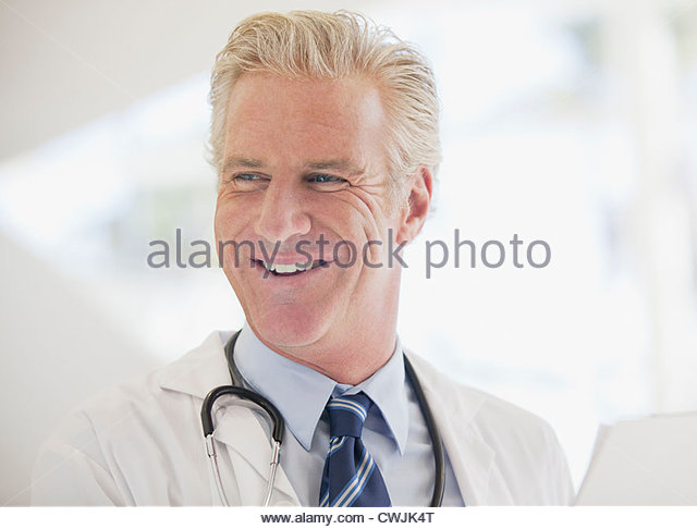 Smiling doctor - Stock Image