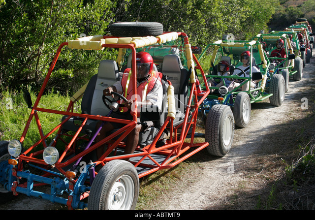 Grand Turk Atlantic Ocean Hawknest Plantation dune buggy excursion tour - Stock Image