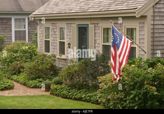 Colonial Style Clapboard House Stock Photos Colonial