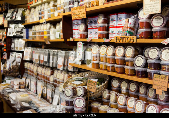 Spices on sale at the Spice Mountain shop at Borough Market, London, England, United Kingdom - Stock Image