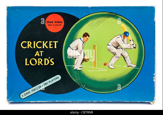 Rare vintage 1940's 'Cricket at Lord's' board game by Chad Valley - Stock Image