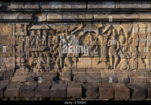 Life buddha bas relief stock photos