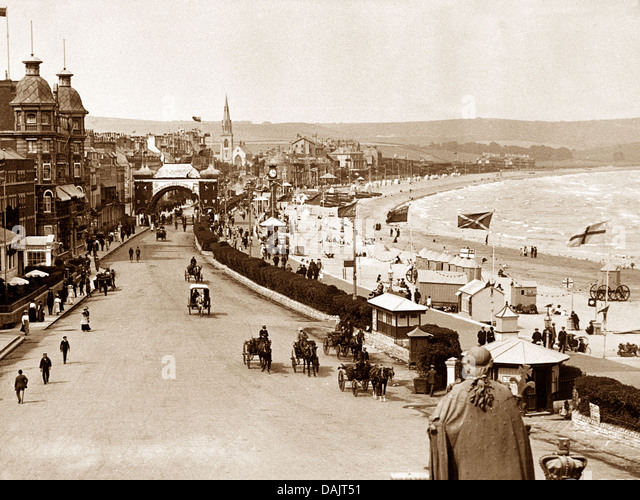 Weymouth The Front early 1900s - Stock Image