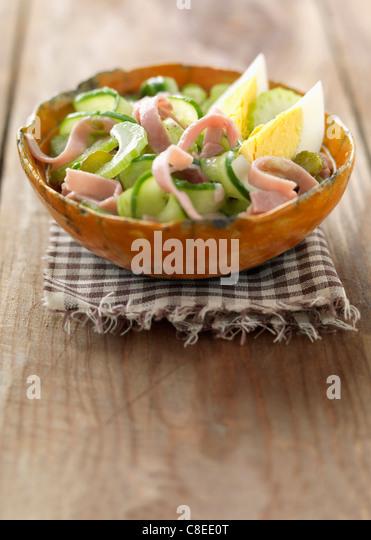 Crisp mixed ham salad - Stock Image