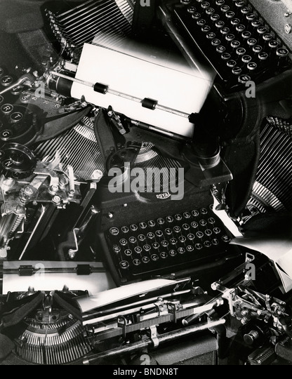 Old fashioned typewriters - Stock Image
