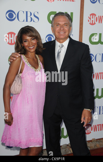 Dr. Lisa Masterson, Dr. Andrew Ordon at arrivals for CBS, The CW and Showtime Summer 2011 TCA Tour, The Pagoda, - Stock Image