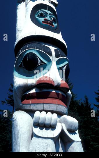 Alaska Totem Pole - Stock Image