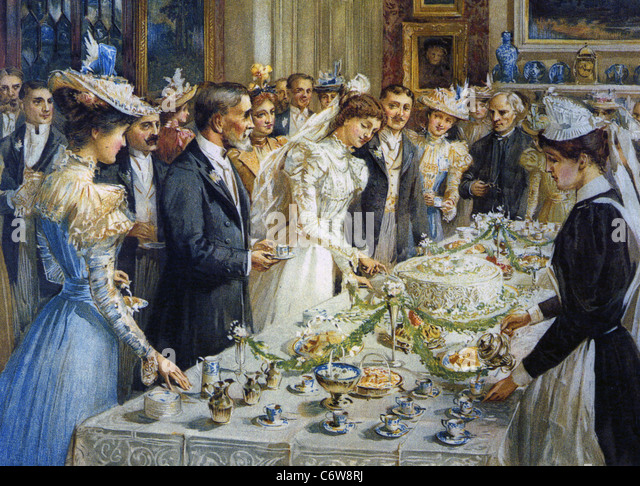 VICTORIAN WEDDING RECEPTION about 1890 - Stock Image