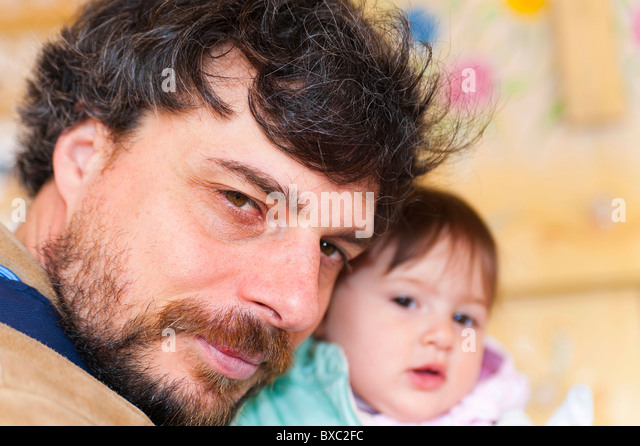 Father and daughter together - Stock Image