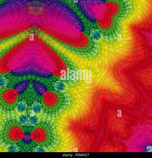 Colorful abstract fractal background - Stock Image