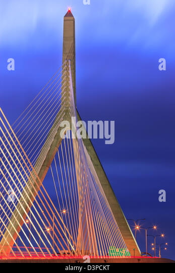 Leonard P. Zakim Bunker Hill Memorial Bridge - Stock Image