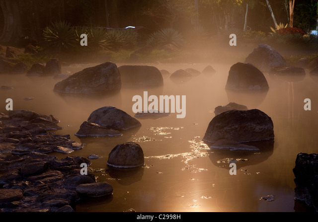 Chae Son National Park hot spring, Chae Son, Lampang, Thailand - Stock Image