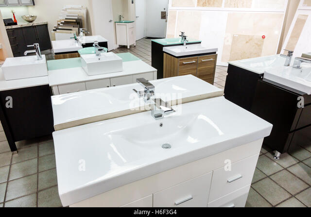 Florida Miami home improvement decor store inside vanities sinks display sale - Stock Image
