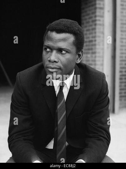 Photograph of Sir Sidney Poitier, a Bahamian-American actor, film director and author. Dated 1966 - Stock Image
