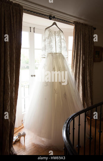Wedding Gown - Stock Image