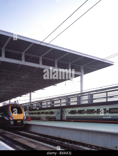 St Pancras Station, London, United Kingdom, Renton Howard Wood Levin, St pancras station. - Stock Image