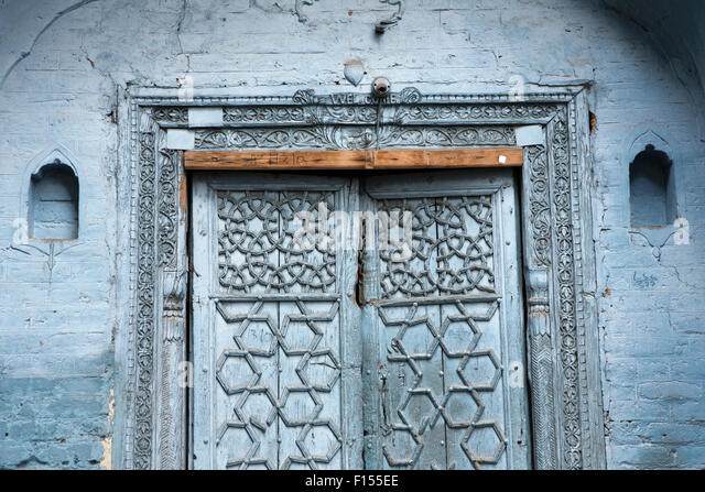 Islamic pattern stock photos islamic pattern stock for Door design kashmir
