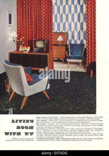 1950s UK Unknown Magazine Advert - Stock Image