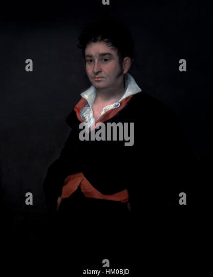Portrait of Don Ramon Satue, by Francisco Goya, 1823, oil on canvas, Rijksmuseum, Amsterdam, Netherlands, Europe, - Stock Image