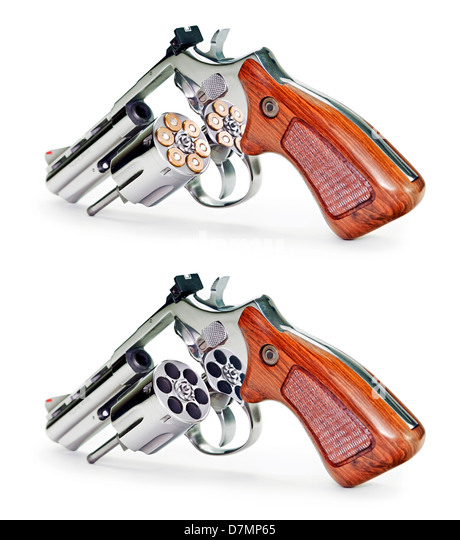 Guns, artwork - Stock Image