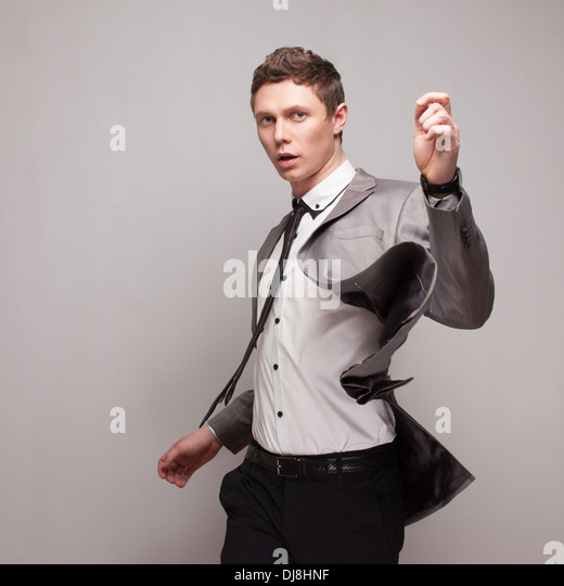 Fashionable business guy - Stock Image