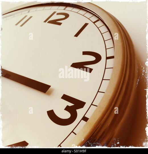 Vintage clock - Stock Image