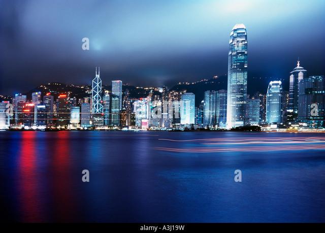 Hong Kong harbour, China - Stock Image