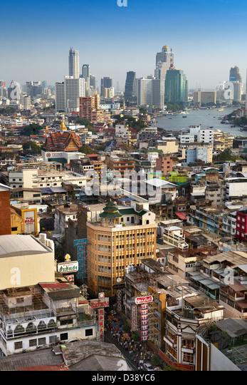 Bangkok cityscape, Chinatown, Bangkok, Thailand - Stock Image