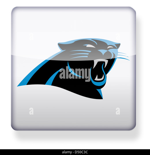 Carolina Panthers logo as an app icon. Clipping path included. - Stock Image
