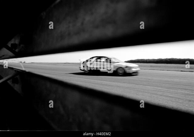 Race track, 4-door convertible motor sport, motor sport, motor racing, speed, racing car, racing car - Stock Image