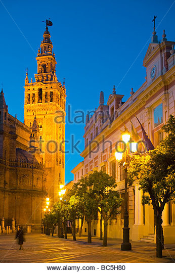 Giralda Tower Seville Andalucia Spain - Stock Image