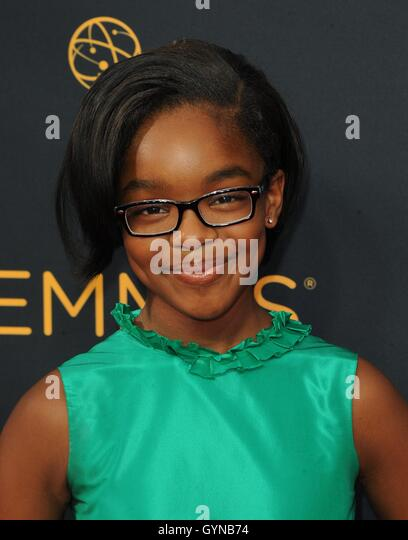 Los Angeles, CA, USA. 18th Sep, 2016. Marsia Martin at arrivals for The 68th Annual Primetime Emmy Awards 2016  - Stock-Bilder