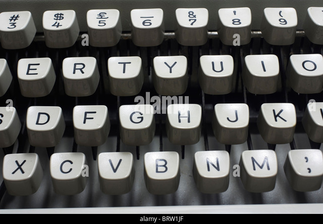 close up of qwerty keypads, for backgrounds. - Stock-Bilder