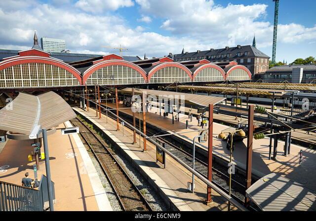Central Train Station, Copenhagen, Denmark - Stock Image