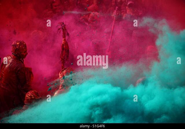 Festival of colours- Holi - Stock-Bilder