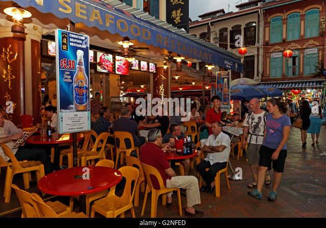 Seafood Restaurant, Chinatown, Singapore, Asia - Stock Image