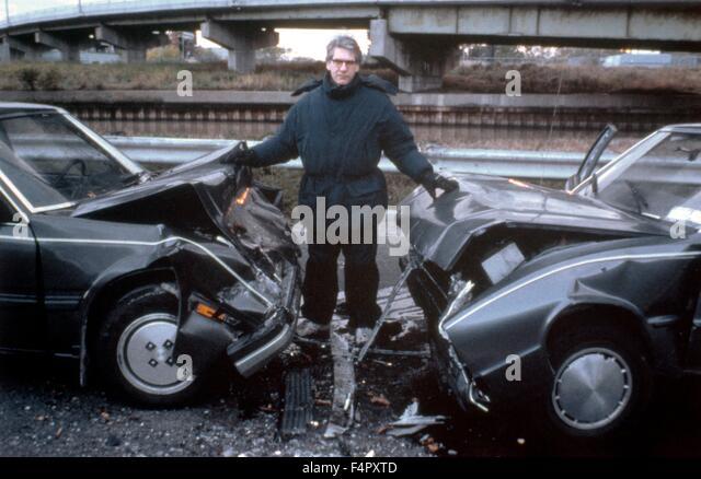 On the set, David Cronenberg / Crash / 1996 / directed by David Cronenberg / Alliance Communications Corporation - Stock Image