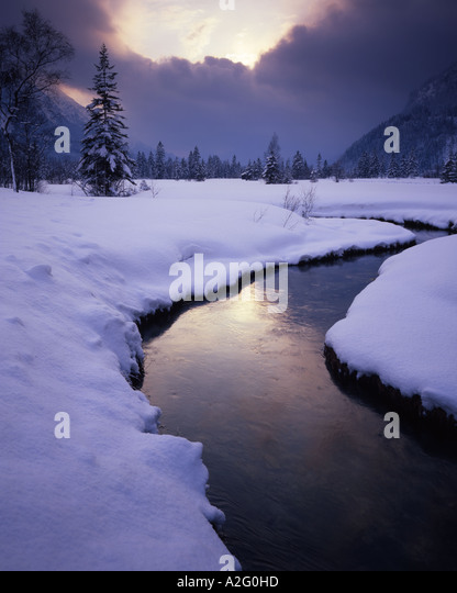 DE - BAVARIA:  Winter near Ettal - Stock Image