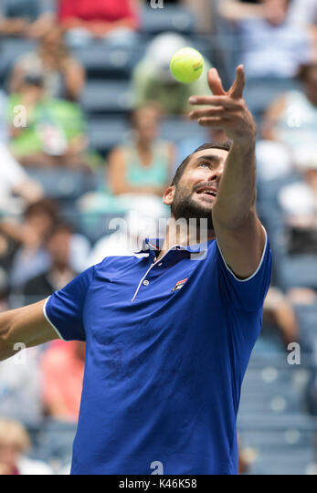 Marin Cilic (CRO) competing at the 2017 US Open tennis Championships - Stock Image