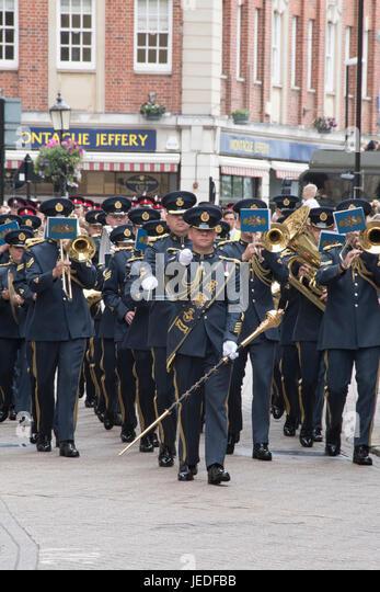 Northampton, UK. 24th June, 2017. Northampton Armed Forces Day Credit: PATRICK ANTHONISZ/Alamy Live News - Stock Image