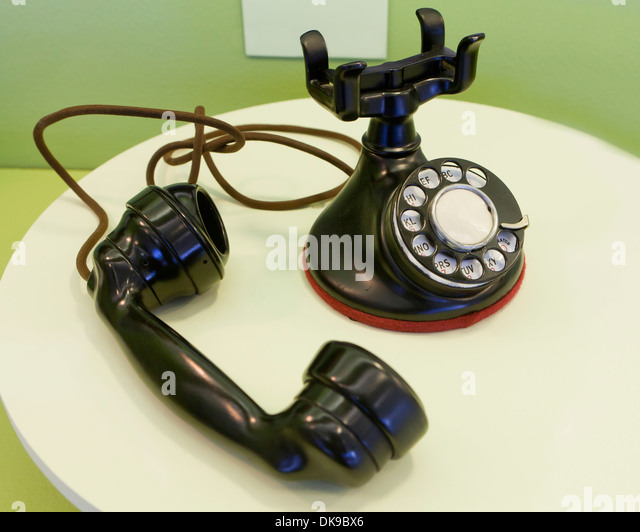 Vintage rotary desktop telephone, c. 1930 - Stock Image