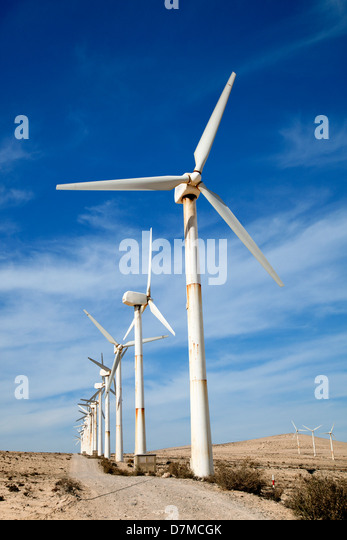 Wind turbines - Stock Image